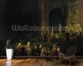 The Woman taken in Adultery, 1644 (oil on panel) wallpaper mural kitchen preview