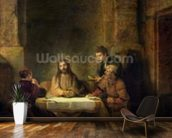 The Supper at Emmaus, 1648 (oil on panel) wallpaper mural kitchen preview