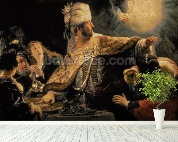 Belshazzars Feast c.1636-38 (oil on canvas) wall mural room setting