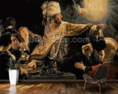 Belshazzars Feast c.1636-38 (oil on canvas) wall mural kitchen preview