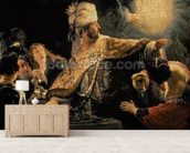 Belshazzars Feast c.1636-38 (oil on canvas) wall mural living room preview