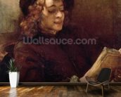 Titus Reading, c.1656-57 (oil on canvas) wallpaper mural kitchen preview