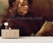 Titus Reading, c.1656-57 (oil on canvas) wallpaper mural living room preview