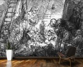 The Circumcision, 1654 (etching) (b/w photo) mural wallpaper kitchen preview