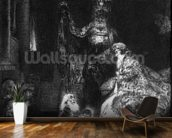 Presentation in the Temple, 1654 (mezzotint) (b/w photo) wall mural kitchen preview