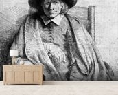 Clement de Jonghe, 1651 (etching) (b/w photo) wallpaper mural living room preview