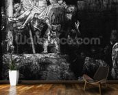 The Descent from the Cross with a Torch, 1654 (etching) (b/w photo) mural wallpaper kitchen preview