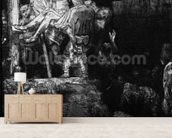 The Descent from the Cross with a Torch, 1654 (etching) (b/w photo) mural wallpaper living room preview