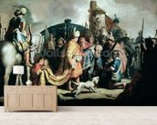 David Offering the Head of Goliath to King Saul, 1627 (oil on panel) wallpaper mural living room preview