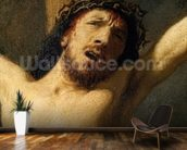 Christ on the Cross, detail of the head (oil on canvas) (detail of 154029) mural wallpaper kitchen preview