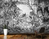 Nativity, 1654 (etching) (b/w photo) mural wallpaper kitchen preview