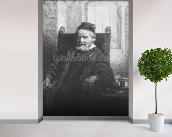 Jean Lutma, 1656 (etching) (b/w photo) wall mural room setting
