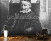 Jean Lutma, 1656 (etching) (b/w photo) wall mural kitchen preview