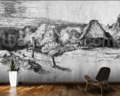 Large Landscape with a Tower, c.1650 (etching) (b/w photo) wall mural kitchen preview