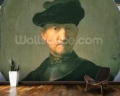 Old Warrior, 1629 (oil on canvas) wallpaper mural kitchen preview