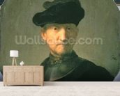 Old Warrior, 1629 (oil on canvas) wallpaper mural living room preview