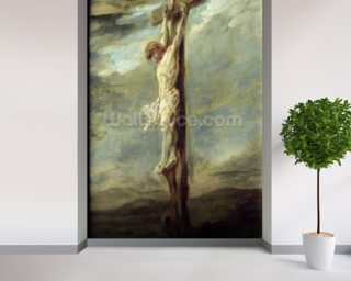 Christ on the Cross (oil on canvas) wallpaper mural