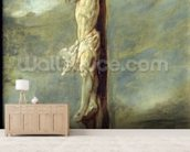Christ on the Cross (oil on canvas) wallpaper mural living room preview