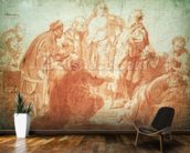 The Doubting Thomas (red chalk on paper) wall mural kitchen preview