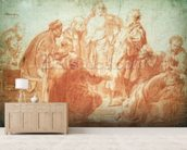 The Doubting Thomas (red chalk on paper) wall mural living room preview
