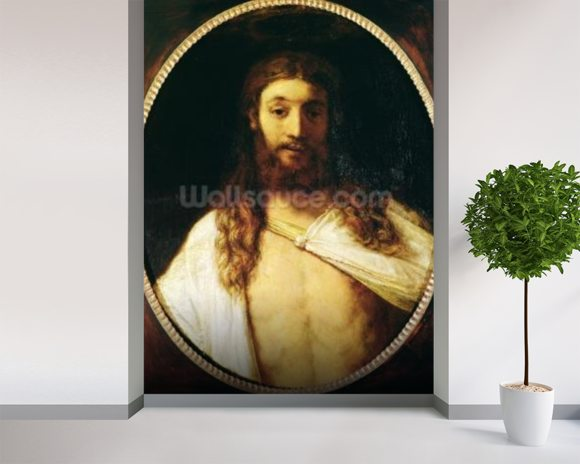 Ecce Homo (oil on canvas) wall mural room setting