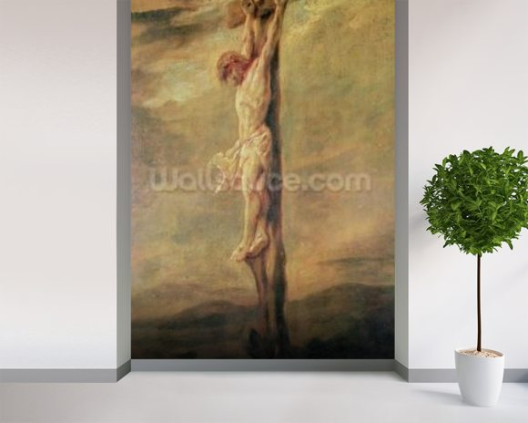 Christ on the Cross, c.1646 (oil on canvas) wall mural room setting
