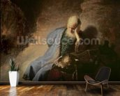 Jeremiah mourning over the Destruction of Jerusalem, 1630 (oil on canvas) mural wallpaper kitchen preview
