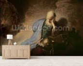 Jeremiah mourning over the Destruction of Jerusalem, 1630 (oil on canvas) mural wallpaper living room preview