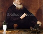 Portrait of Pastor Eleazer Swalmius, 1637-42 (oil on canvas) mural wallpaper kitchen preview