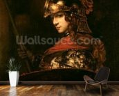 Pallas Athena or, Armoured Figure, 1664-65 (oil on canvas) wall mural kitchen preview