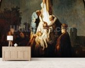 The Deposition, 1632-33 (oil on canvas) wallpaper mural living room preview