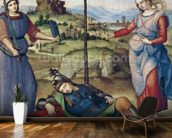 Vision of a Knight, c.1504 (oil on poplar) mural wallpaper kitchen preview