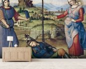 Vision of a Knight, c.1504 (oil on poplar) mural wallpaper living room preview