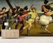 The Procession to Calvary, c.1504-05 (oil on wood) wall mural living room preview