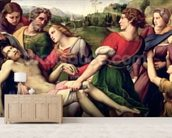 The Deposition, 1507 (oil on panel) (detail of 62308) wallpaper mural living room preview