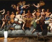 The Banquet of the Gods (oil on canvas) mural wallpaper kitchen preview