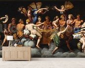The Banquet of the Gods (oil on canvas) mural wallpaper living room preview
