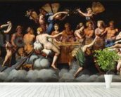 The Banquet of the Gods (oil on canvas) mural wallpaper in-room view