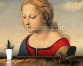 La Belle Jardiniere, 1507 (oil on panel) (detail of 8546) wall mural kitchen preview