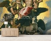Vision of Ezekiel, c.1518 (oil on panel) mural wallpaper living room preview