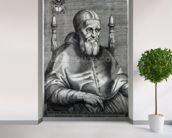 Pope Julius II (engraving) wallpaper mural in-room view