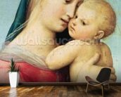 Detail of the Tempi Madonna, 1508 (oil on panel) mural wallpaper kitchen preview