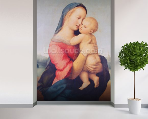 The Tempi Madonna, 1508 (oil on panel) wall mural room setting