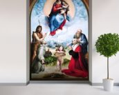 The Foligno Madonna, c.1511-12 (oil) wall mural in-room view