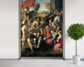 The Fall on the Road to Calvary, 1517 (oil on canvas) mural wallpaper in-room view
