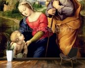 The Holy Family with a Lamb, 1507 (oil on panel) wallpaper mural kitchen preview