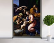 Holy Family (known as the Grande Famille of Francois I), 1518 (oil on canvas) wall mural in-room view