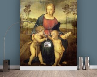 Madonna of the Goldfinch, c.1506 (oil on panel) wall mural