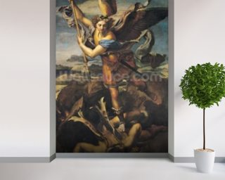 St. Michael Overwhelming the Demon, 1518 (oil on canvas) wall mural