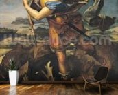 St. Michael Overwhelming the Demon, 1518 (oil on canvas) wall mural kitchen preview